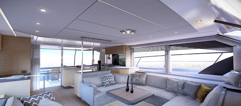 Rendering of the interior of the Aquila 54