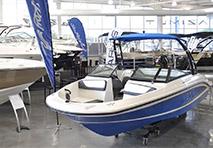 boat in showroom