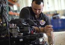 Man working on engine