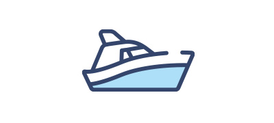 A graphic showing a boat