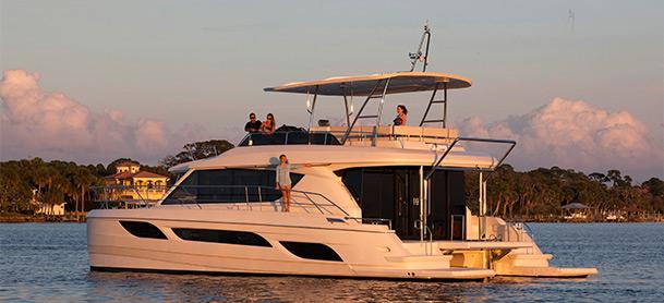 Family on Aquila 48 Power Catamaran