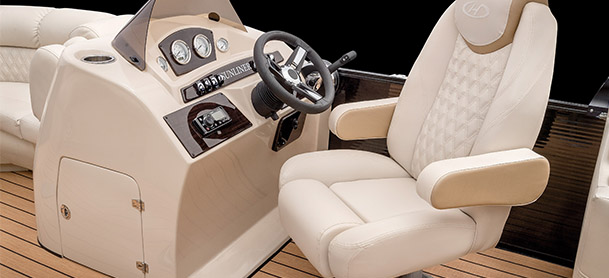 comfortable looking helm chair and helm station