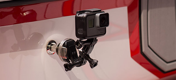 camera on a mount
