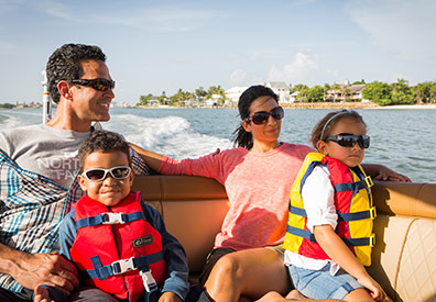Family on Sea Ray SDX 270
