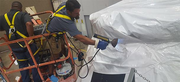 Man working on NASA machinery
