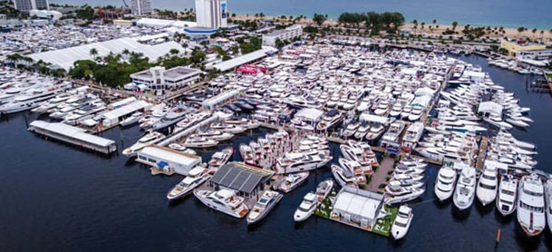 Aerial view of the Ft. Lauderdale International Boat Show