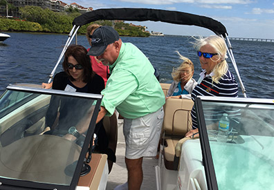 MarineMax event women on boat hands on experience