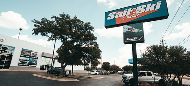 A view of the MarineMax Sail and Ski store in Austin Texas