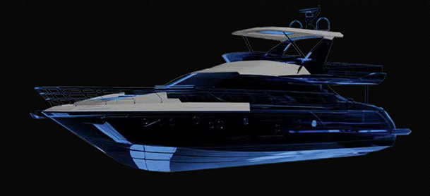 Dark picture of an Azimut Carbon Fiber