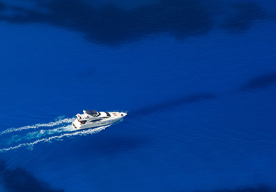 boat on blue water