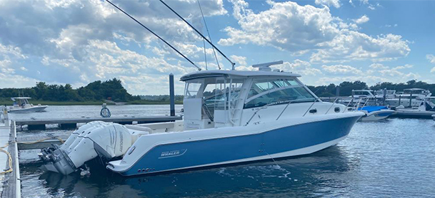A 2018 Boston Whaler 345 Conquest for sale at MarineMax Danvers