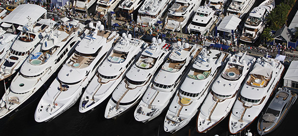 rows of boats on dock