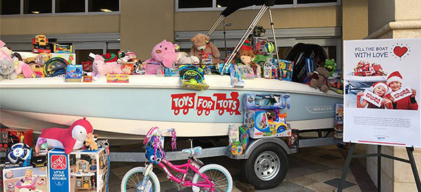 boat filled with toys