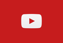red square with signature youtube white play button with red arrow in the middle