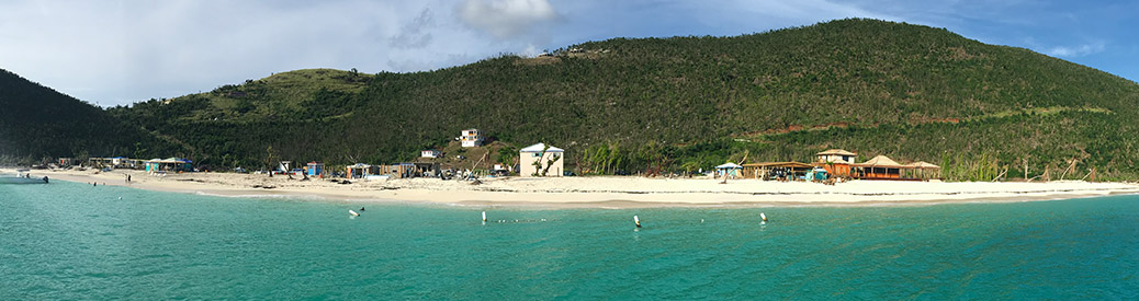 shoreline of an island