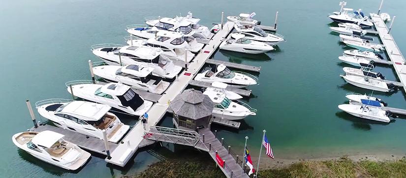 boats lined up along dock