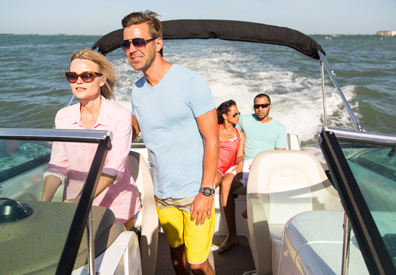 two couples taking boat out on the ocean