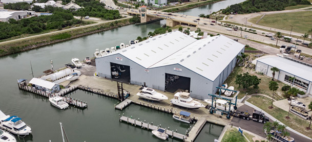 aerial shot of MarineMax venice