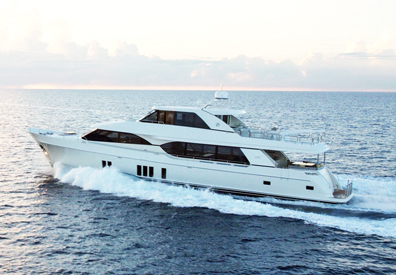 large charter yacht moving elegantly across waters