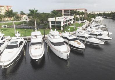 row of yachts docked at marinemax