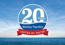 marinemax 20th anniversary logo