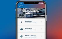 the marinemax app on an iphone screen