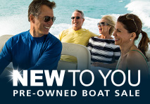 new to you pre owned boat sale logo