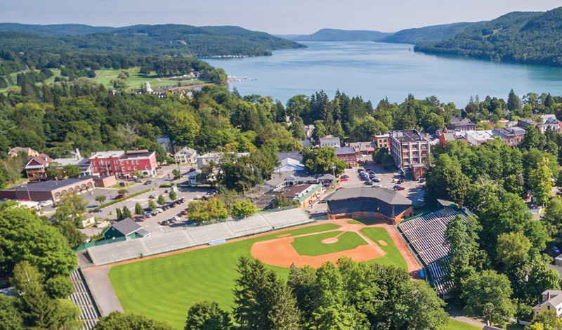 Baseball Field near Otsego Lake in Cooperstown, NY