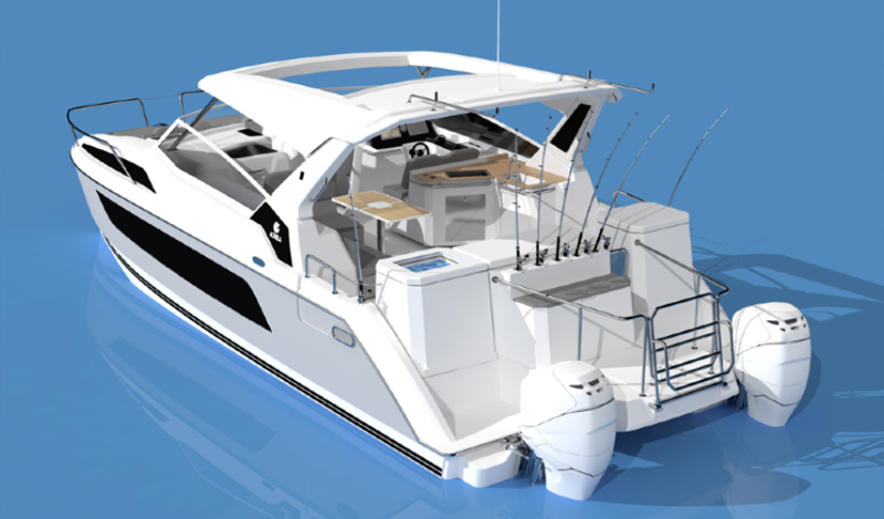 Exterior view of the Aquila 36 Fishing and Diving Version