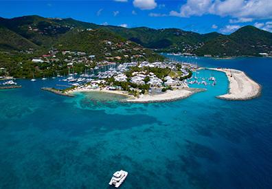 Aerial of beautiful island