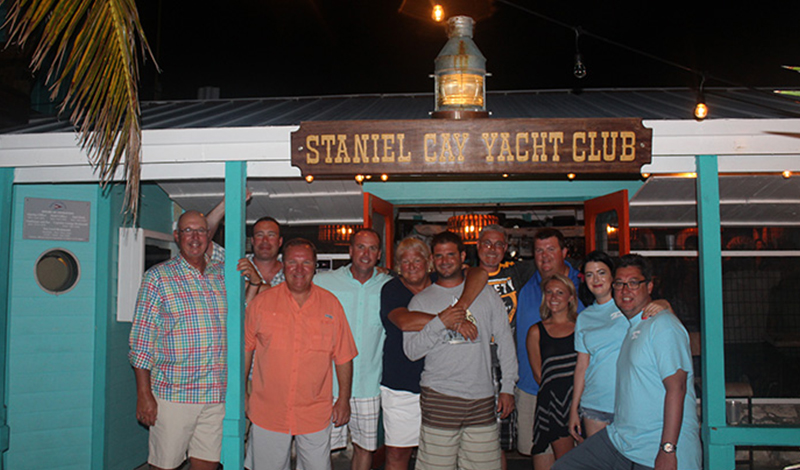 Group of MarineMax Customers at the Stanley Cay Yacht Club