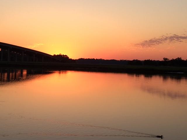 Sunrise in Savannah over water