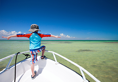 Kids in Boating Landing Page Image
