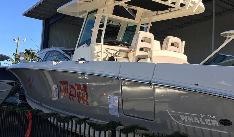 A Boston Whaler boat