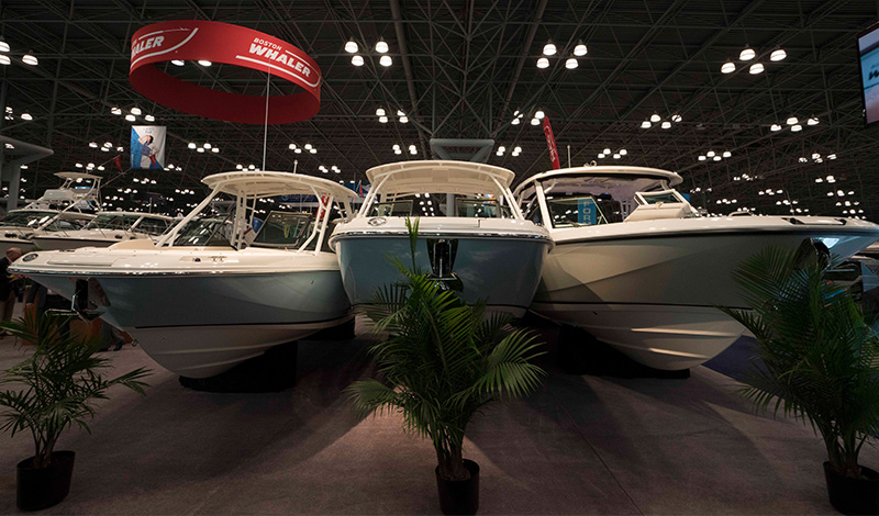 boston whaler boats at the new york boat show