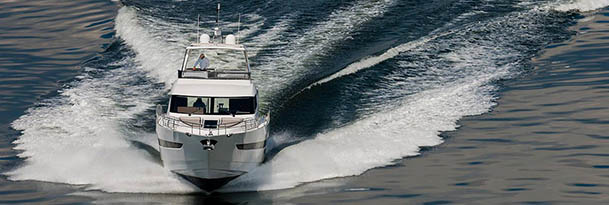 boat running with large wake