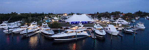 aerial view of the marinemax fort myers yacht gala