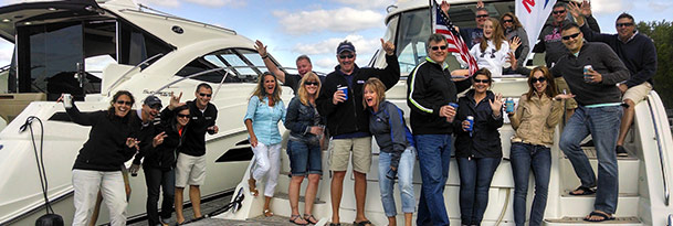 people celebrating marinemax getaways
