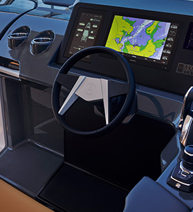 View of a navigation system of Aviara boat