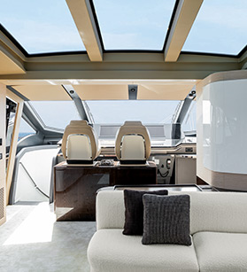 Detail interior view of Azimut yacht