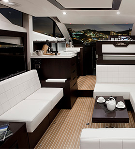 Interior view of a Galeon yacht