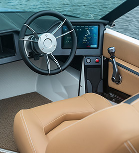 Mastercraft boat dashboard view