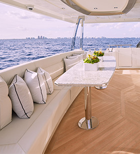 Deck view of Ocean Alexander yacht