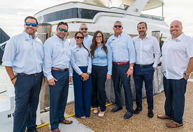 A group of MarineMax team members