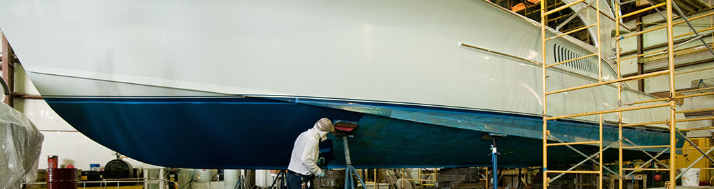 Boat being repaired