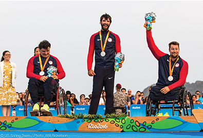 Sailing team for Paralympics on awards podium