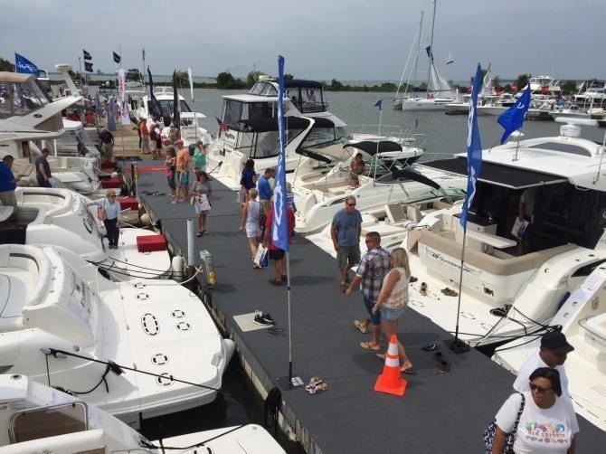 boat show on dock