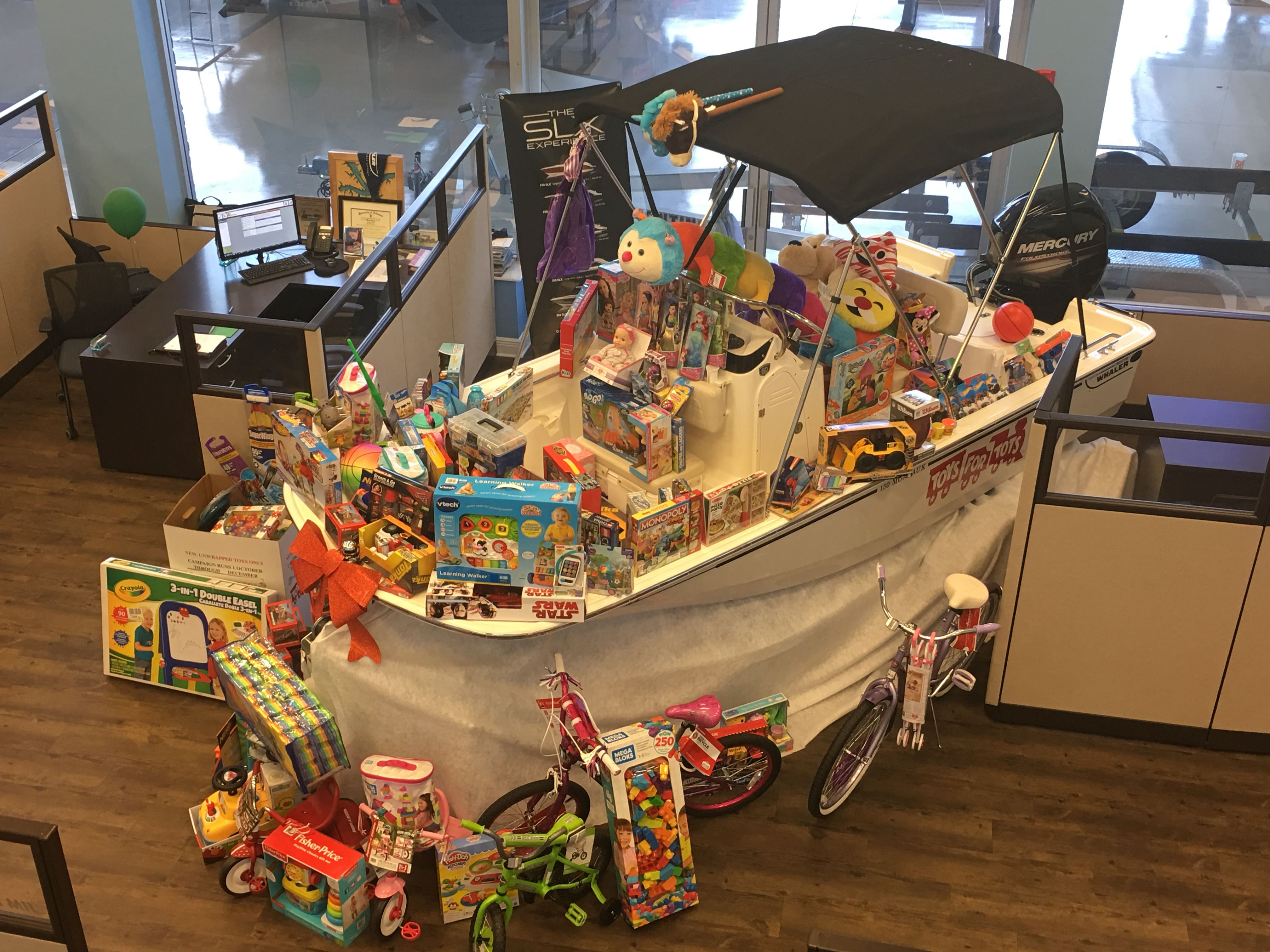 toys filled boat
