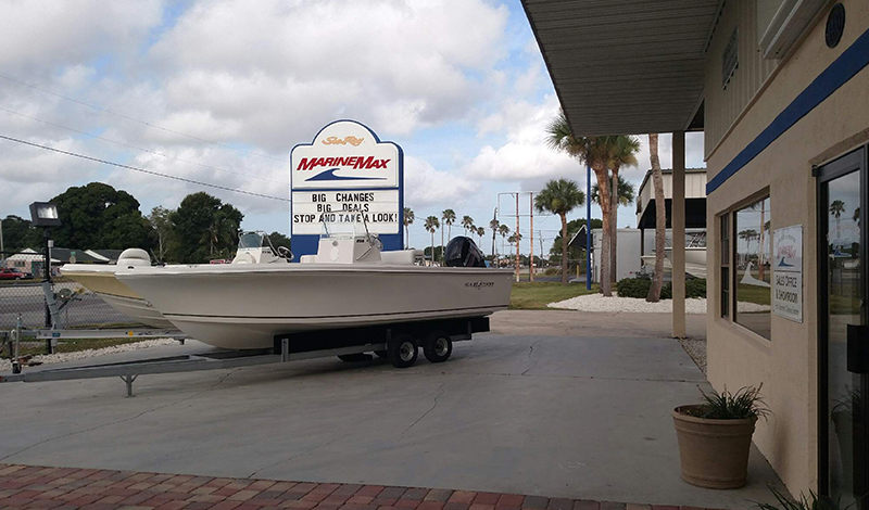 marinemax cocoa store front and boat