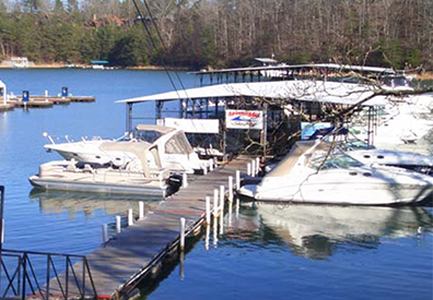 MarineMax Cumming dock and boats